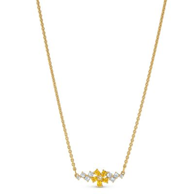 BOTANICAL:NECKLACE SIMPLE CZWH/GOS