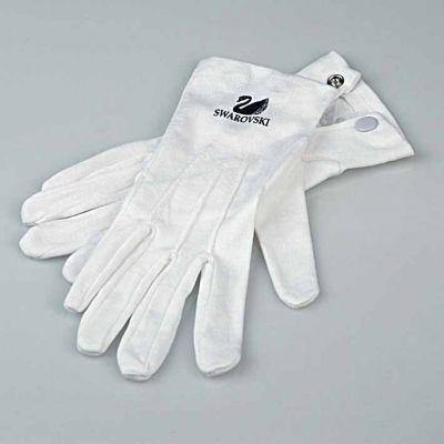 coton  gloves white