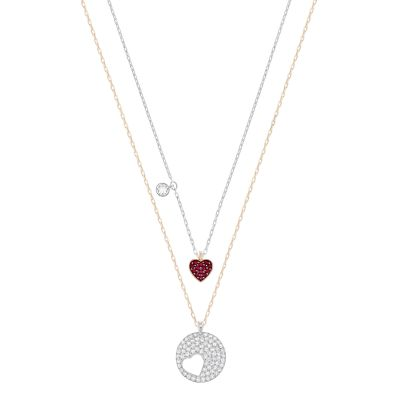 CRY WISHES:PENDANT HEART SIAM/CRY/MIX