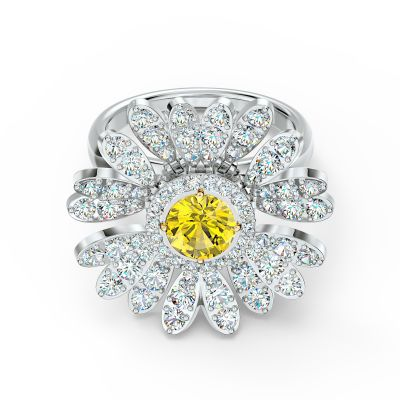 ETERNAL FLOWER:RING MOVABLE CZOY/MIX 58