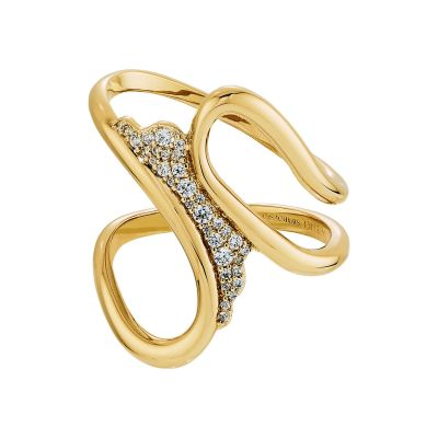GILDED TR:OTHER SCARF RING CZWH/GOS