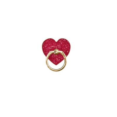 GLAM ROCK H RING:STICKERS RED/STS PLG