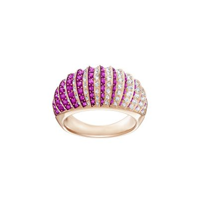LUXURY:RING DOMED FUCH/CRY/ROS 55