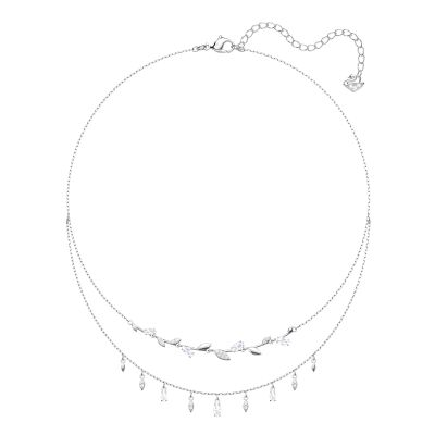MAYFLY:NECKLACE LAYERED CZWH/CRY/RHS