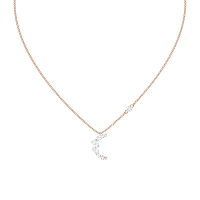 MOONSUN:NECKLACE MOON CZWH/ROS