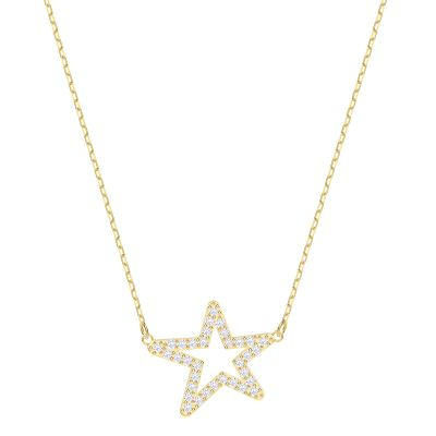 ONLY:NECKLACE STAR CZWH/GOS