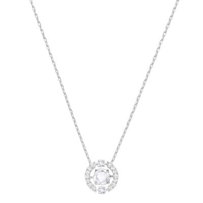 SPARKLING DC:NECKLACE CZWH/CRY/RHS