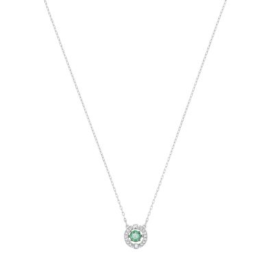 SPARKLING DC:NECKLACE GREEN CZFG/CRY/RHS
