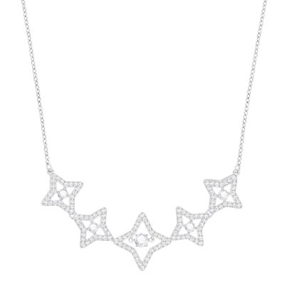 SPARKLING DC:NECKLACE MED STAR CZWH/CRY