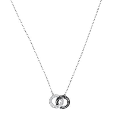 STONE:NECKLACE DOUBLE JET/CRY/RHS