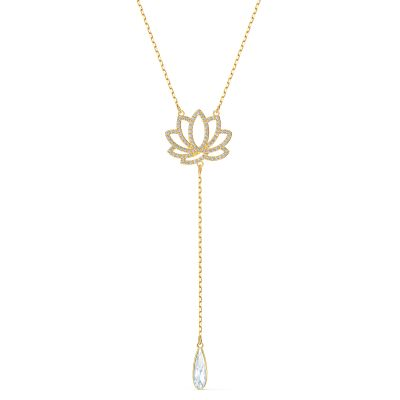 SWA SYMBOL:NECKLACE LOTUS CZWH/CRY/GOS